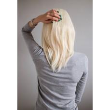Перука без чубчика рівна блондинка ( 3219 )