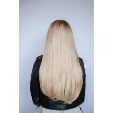 Длинный парик блондинка ровные волосы ( 0211 )