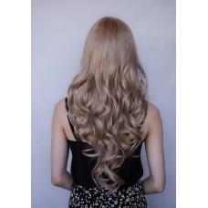 Довга перука з чолкою попелястий блонд ( 2142 )