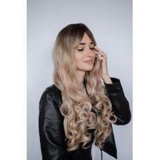 Красива перука модне фарбування з чолкою ( 5213 )
