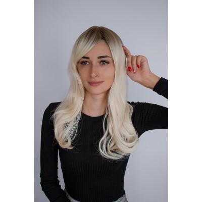 Перука блондинка хвилясте волосся коса чолка ( 3351 )