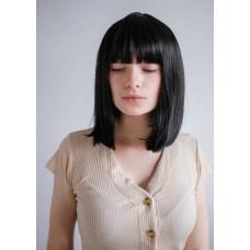 Черный парик каре с челкой ( 2814 )