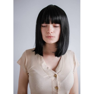Чорна перука каре з чубчиком ( 2814 )