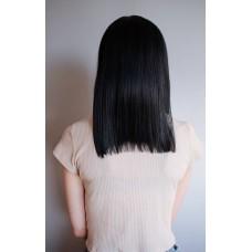 Термостійка чорна перука каре  ( 2101 )
