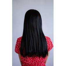 Чорна перука з проділом для повсякденної носки ( 1095 )