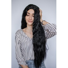 Чорна перука хвилясте довге волосся ( 9978 )