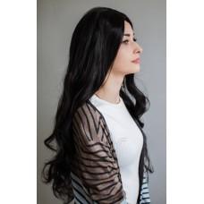 Чорна перука з штучного волосся ( 03179 )