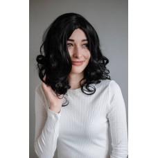 Жіноча чорна перука з штучного волосся  ( 3106 )