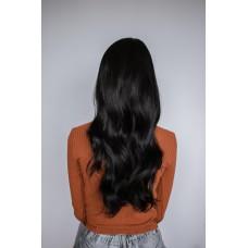 Термостійка чорна перука хвилясте волосся ( 3541 )