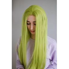 Довга зелена перука без чубчика на сітці ( 3021 )