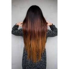 Термостійка перука на сітці коричнева ( 9473 )