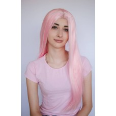 Довга рожева перука на сітці без чолки ( 1174 )
