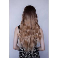 Длинный русый парик без челки ( 3341 )