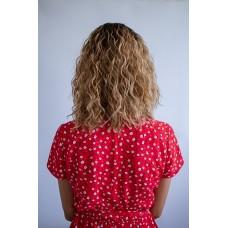 Кучерявый парик колорирование без челки ( 3316 )