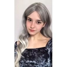 Длинный серый парик волнистые волосы ( 2375 )