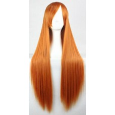 Довга руда перука з косою чолкою ( 60844 )