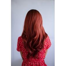 Руда перука довге волосся без чолки ( 5221 )