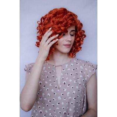 Перука руда хвилясте волосся ( 7062 )