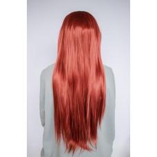 Довга руда перука на сітці рівне волосся ( 1820/1 )