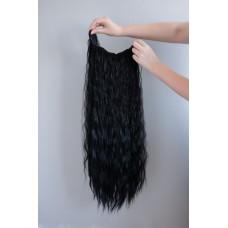 Кудряве накладне волосся чорне ( 1 )