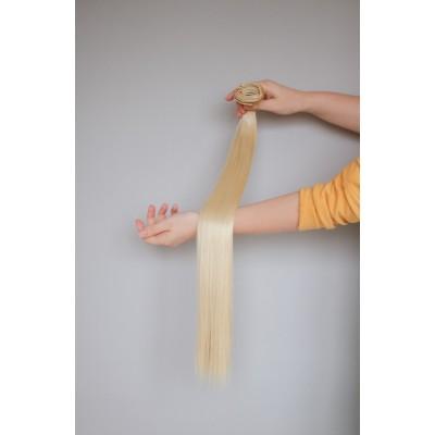 Треси волосся на кліпсах меліровка блонд ( 86/613 )
