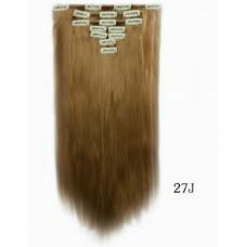 Накладні пасма на кліпсах  рівне волосся ( 27J )