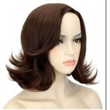 Коричневый парик из искусственных волос ( 186232 )