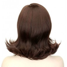 Женский коричневый парик имитация кожи головы ( 186234 )