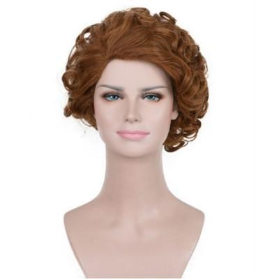 Корокий коричневый парик ( 3536 )