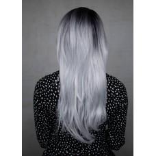 Довга сіра перука без чубчика ( 2047 )