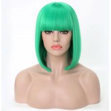 Зелена перука каре з рівним чубчиком ( 2644 )