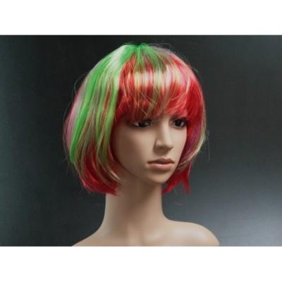 Карнавальный парик красно зеленый