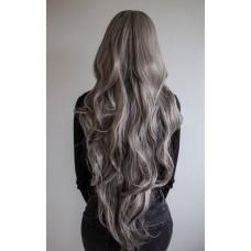 Сіра довга перука хвилясте волосся ( 1740 )