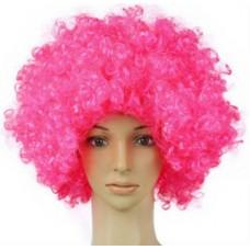 Розовый парик кудри